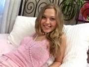 Kinky blonde Slovak teenage babe Trinity showing off her amazing breasts