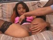 Devin Reese shows her bald pussy in front of the camera