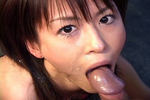 Horny Japanese Ai Himeno gives a perfect blowjob