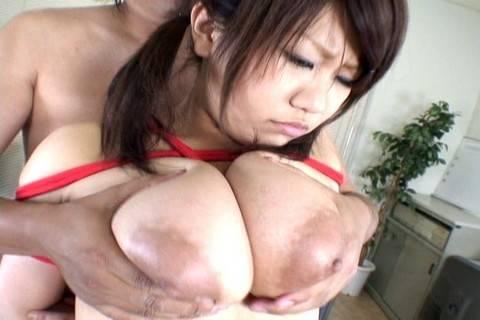 Hayama Kumiko in sexy school girl outfit play